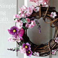 Simple Spring Wreath Tutorial