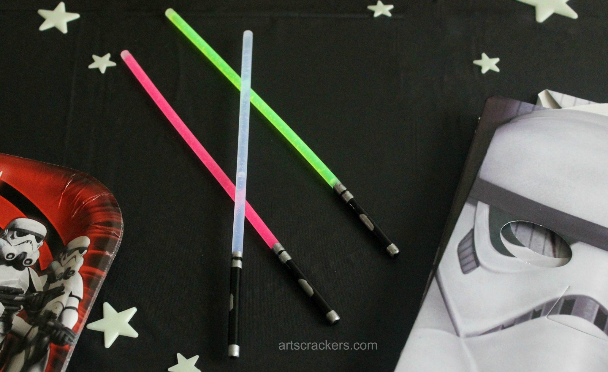 glow stick lightsaber craft