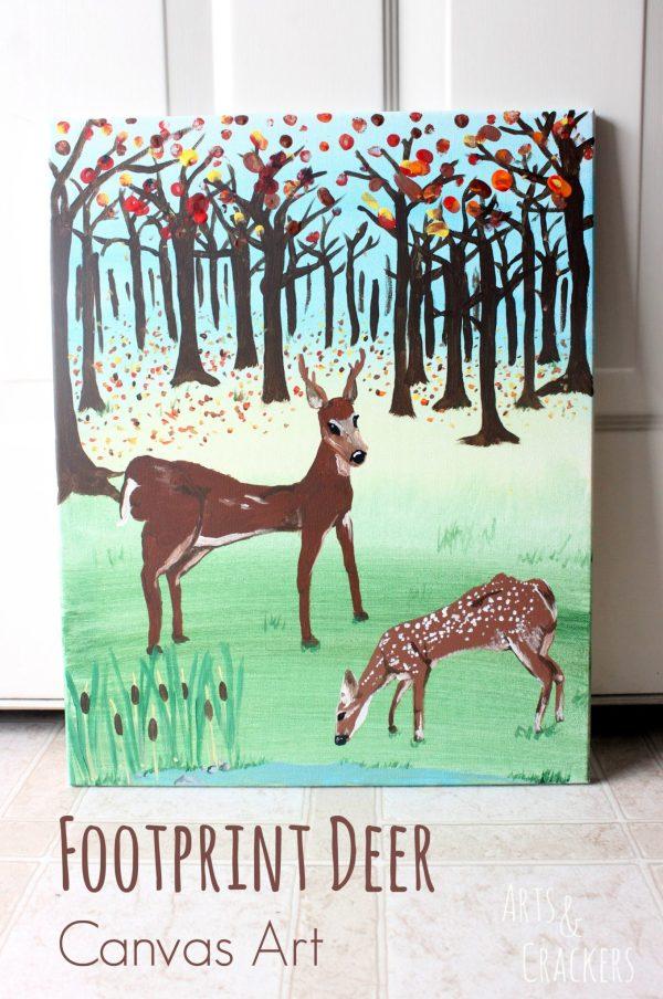 Deer Footprint Wall Art