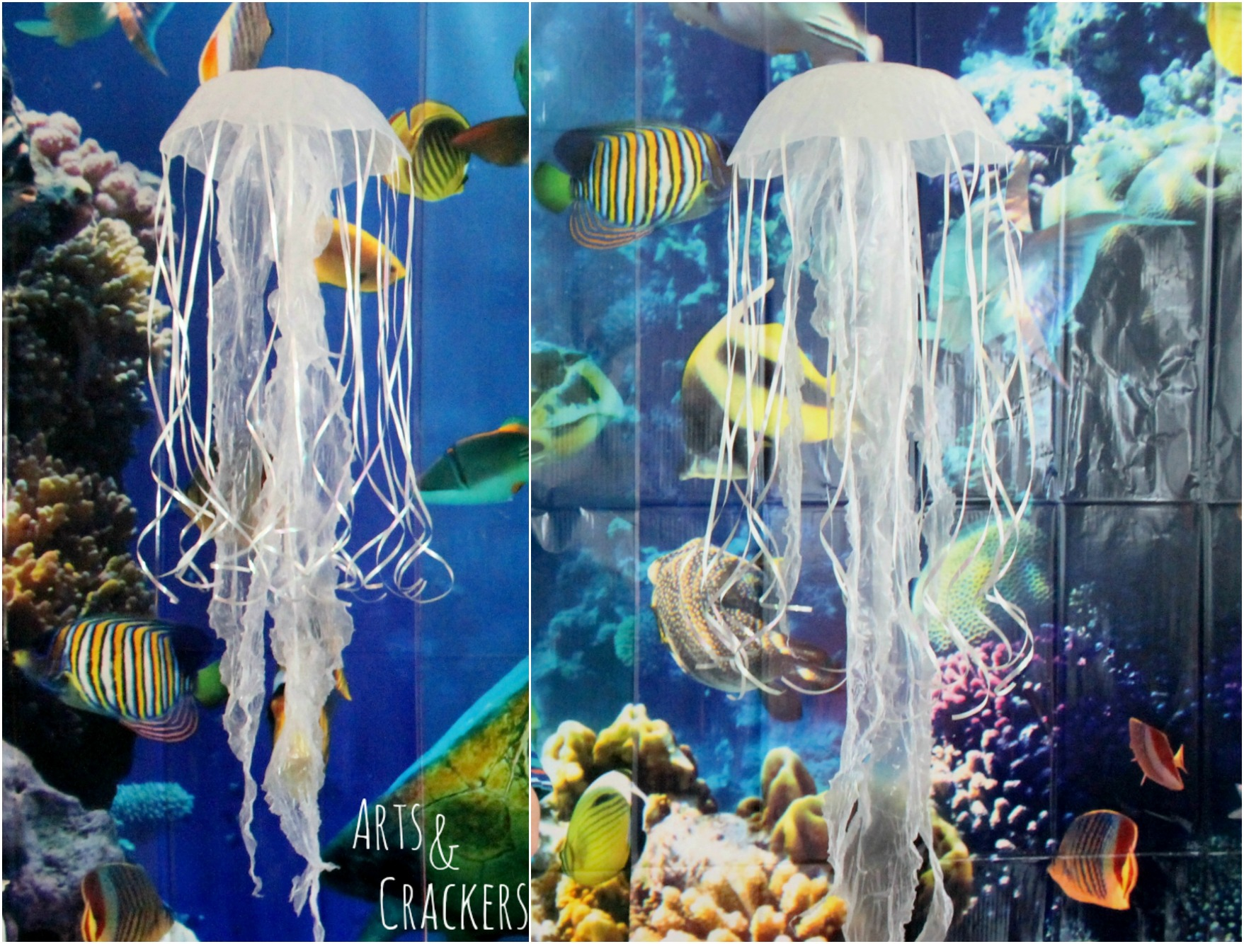 Diy Hanging Jellyfish Decoration  Oceanthemed Party Decor