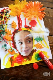 kid- crazy hair day art project
