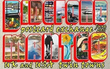 North Devon and North Carolina link up with postcards