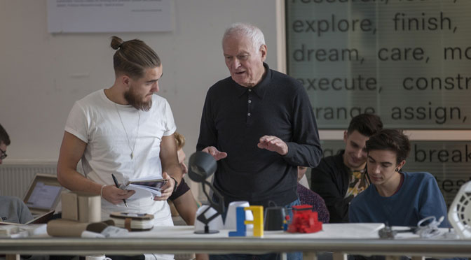 Globally renowned designer shares his expertise with new creative talent