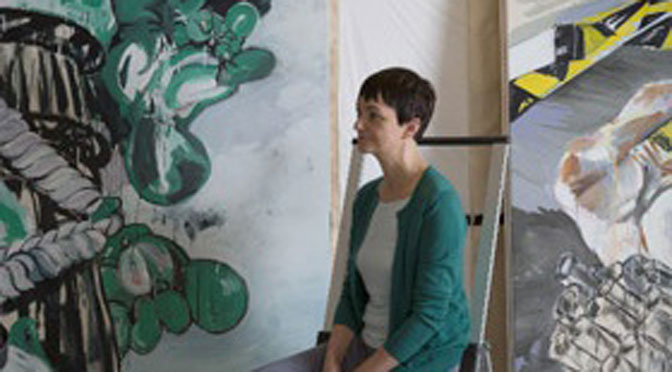 Susan Sluglett first artist in residence at Borough Road Gallery