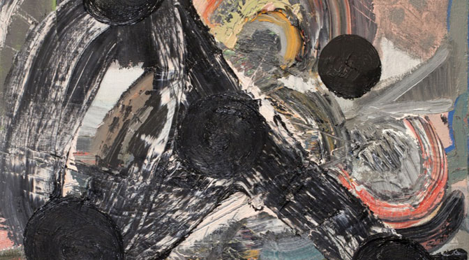 detail of 24 hour party painting, 2013, by Kit Poulson