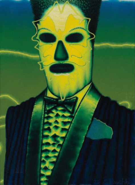 Ed Paschke (1939‒2004) Bombalia, 1978 Oil on canvas 76 x 56 cm Hall Collection, courtesy of Hall Art Foundation © Ed Paschke