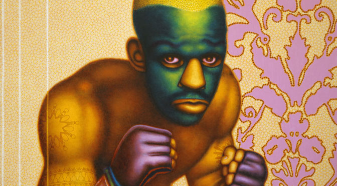Ed Paschke (1939‒2004) Boxer with Masque, 2004 Oil on linen 127 x 152 cm Hall Collection, courtesy of Hall Art Foundation © Ed Paschke