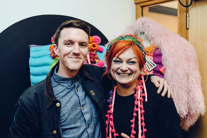 Dom Moore and Becky Dodman at the Metamorphosis artist's talk in Plymouth College of Art