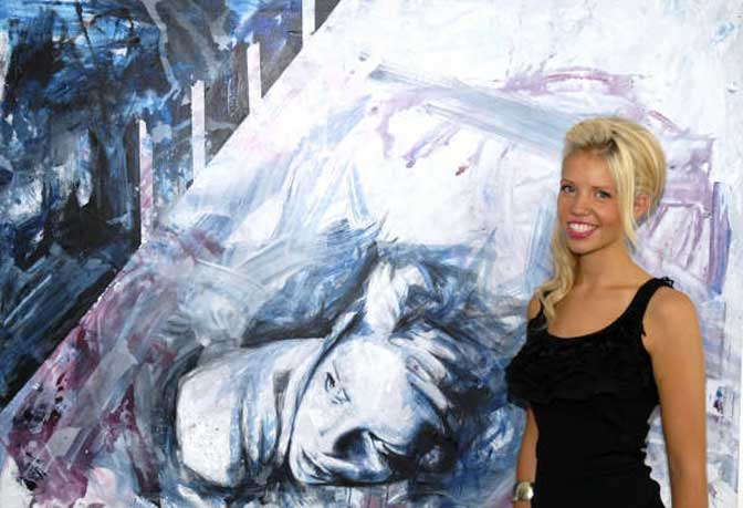 Rising star Emma Grzonkowski hosts exhibition at Castle Fine Art, Exeter