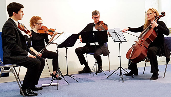 Confident and expressive opening from Peninsula Arts String Quartet at Sherwell Centre