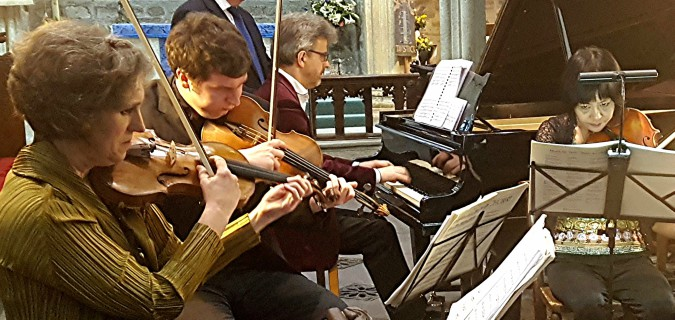 A sumptuous feast of moorland music: Dante Quartet with Mark Bebbington at Tavistock Church