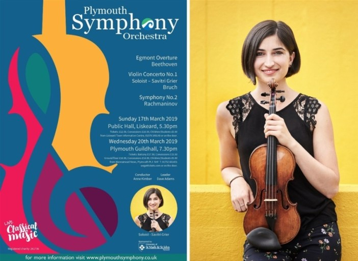 British violinist Savitri Grier performs with PSO