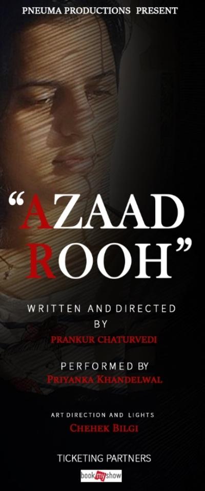 poster forAzaad Rooh  Prankur Chaturvedi