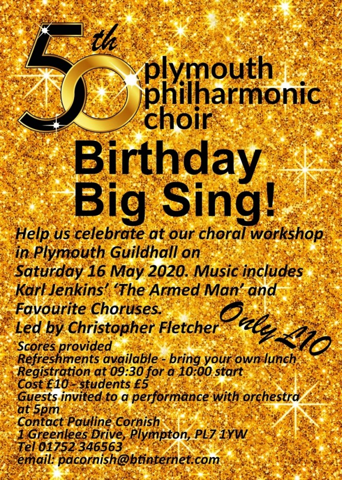 Plymouth Philharmonic Choir – The Big Sing