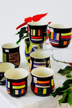 Gail Morrel's whimsical cups