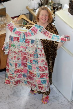 The fabulous bingo dress created by Alison Conway