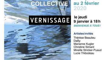Période Bleue Exposition Collective du 6 Janvier au 2 Février 2020 Galerie Alfred Pellan Québec