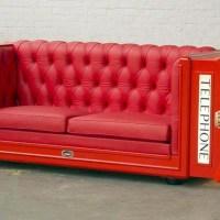 British Telephone Cabin Sofa
