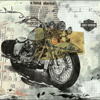 Harley Davidson - Mixed Media collage