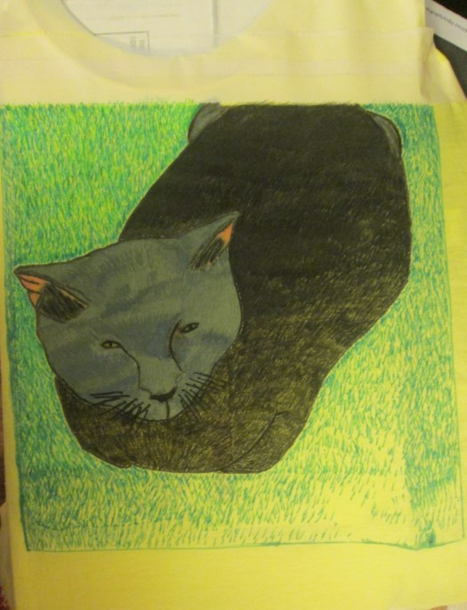 Coloring in more of the grass.