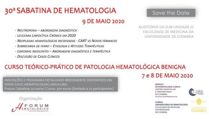 30ª SabatinadeHematologia – Save The Date – Agenda UC