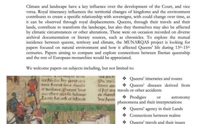 CFP: «Queenship On Climates, Queenship Despite Climates»   Proposals: Sept 15; E…
