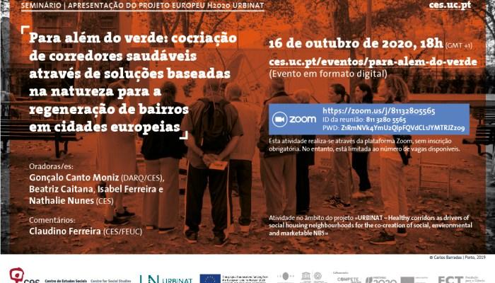 Cocriação De Corredores Saudáveis Através De Soluções Baseadas Na Natureza Para A Regeneração De Bairros Em Cidades Europeias