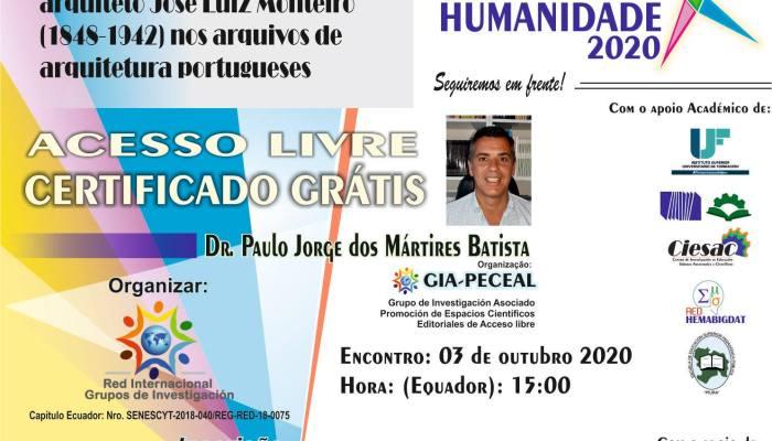 Amanhã às 21h (horário Lisboa) O Investigador Paulo Batista Apresentará O Webina…