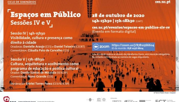 Espaços Em Público | Sessões IV/V