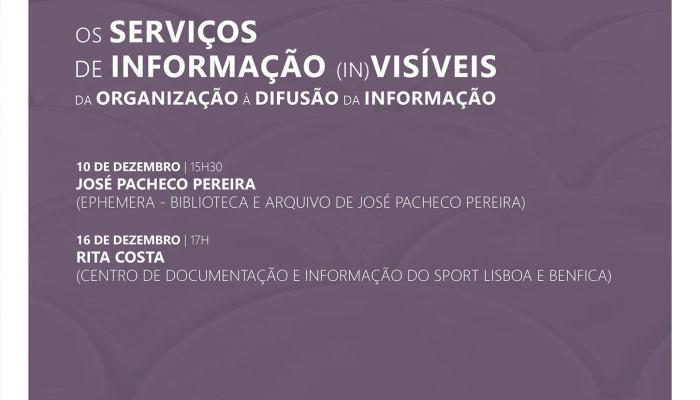 Os Serviços De Informação (in)Visíveis: Da Organização à Difusão Da Informação  …