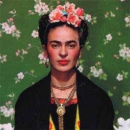 """""""Frida on White Bench,"""" photograph by Nickolas Muray, 1939. Submitted image"""