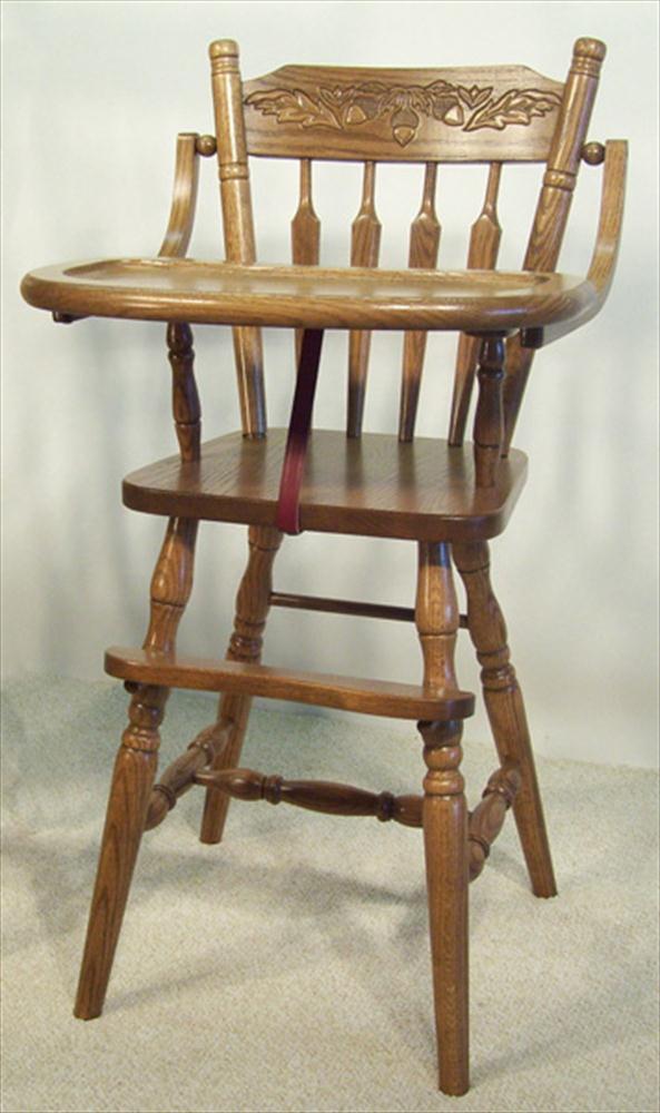 Baby Furniturewood High Chairamishacorn Back