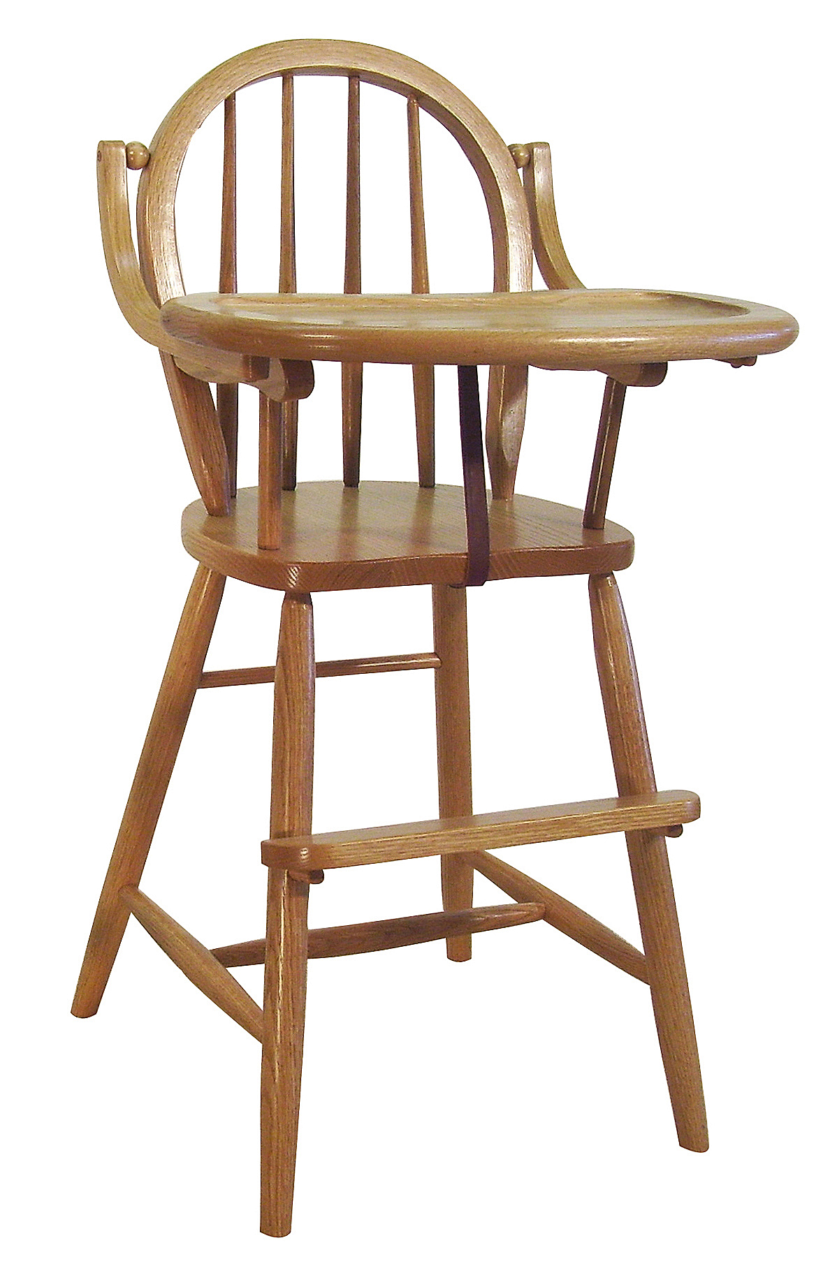 Wooden High Chairs For Babies Baby Furniture Wood High Chair Amish Bow Back