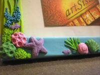 Handmade polymer clay covered photo frame- sea life | Mini ...