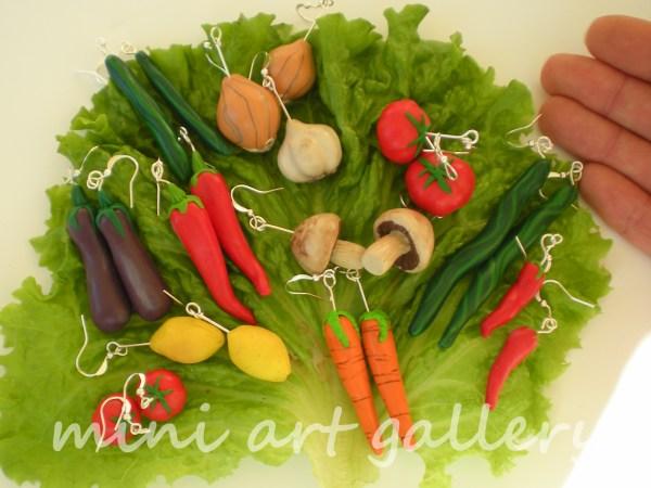 Handmade Polymer Clay Miniature Vegetables Veggies Corn