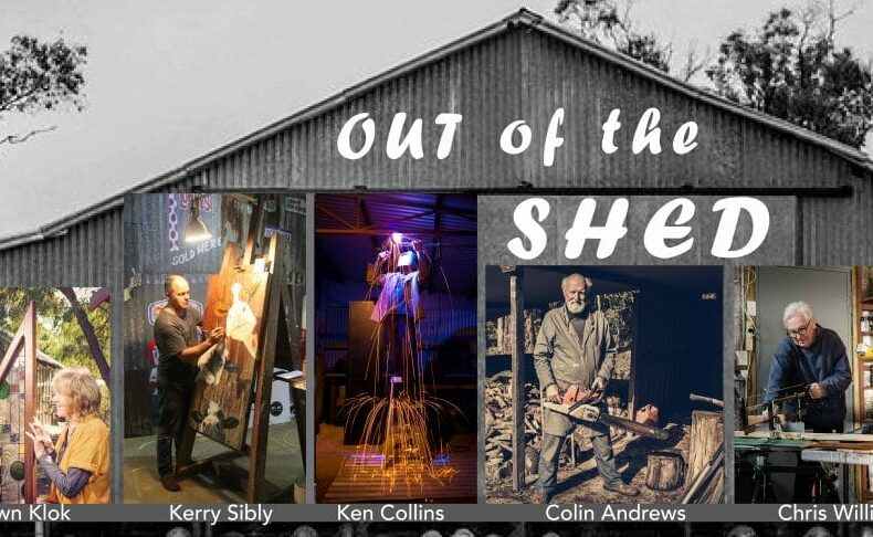Out of the Shed invitation cover