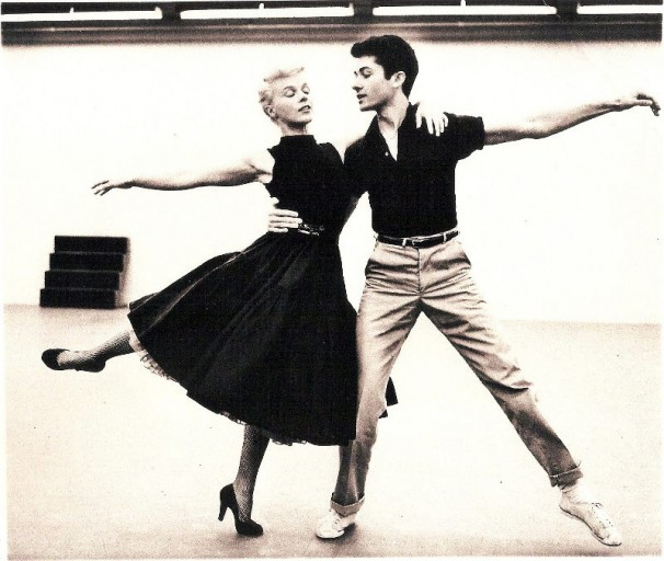 George Chakiris Sally Forrest rehearse Night and Day 1956  artsmeme