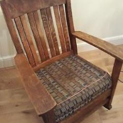 Antique Wooden Rocking Chairs Target Wing Chair Covers Vintage American Arts And Crafts Style