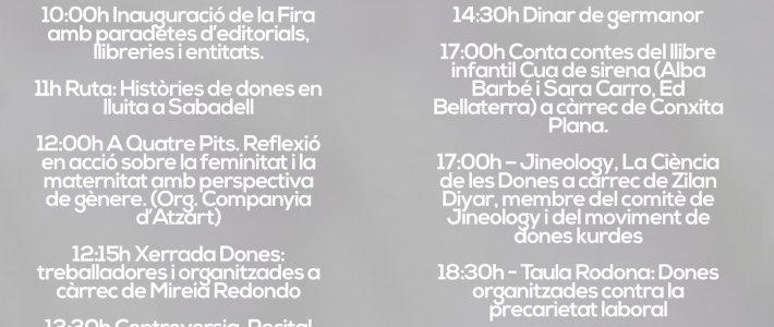 Fira de Llibres Feministes de Sabadell | Dissabte 11 de març
