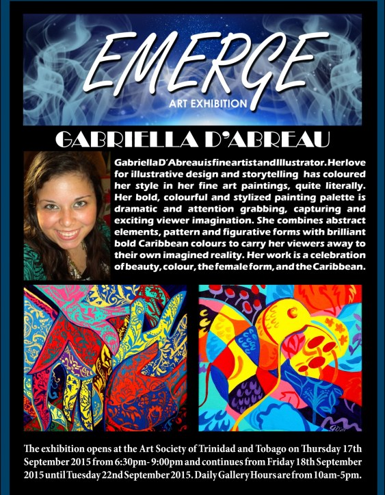 Emerge art Exhibation pr4(Gabriella D'Abreau)