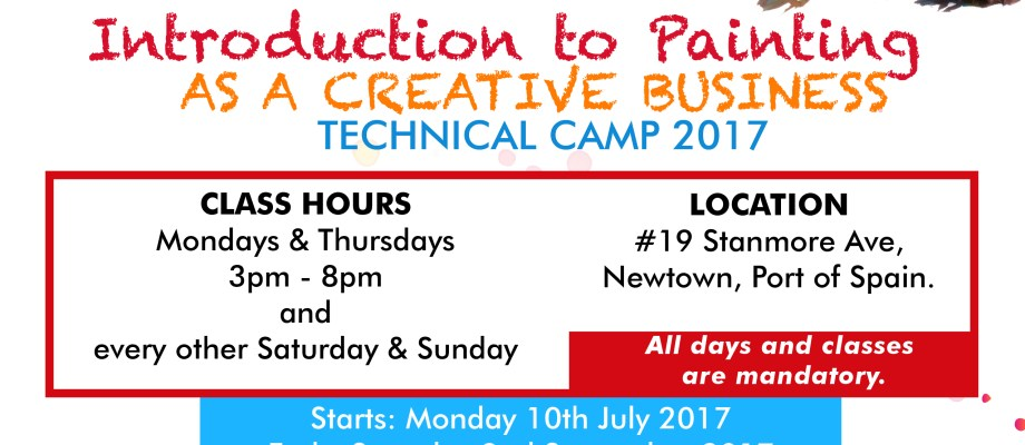 Introduction To Painting As A Creative Business: Technical Camp 2017