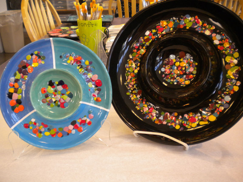 Photos arts on fire for Paint your own pottery ideas