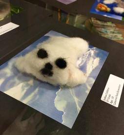 Felted cloud by Joshua Crabtree, Cameron Park Elementary