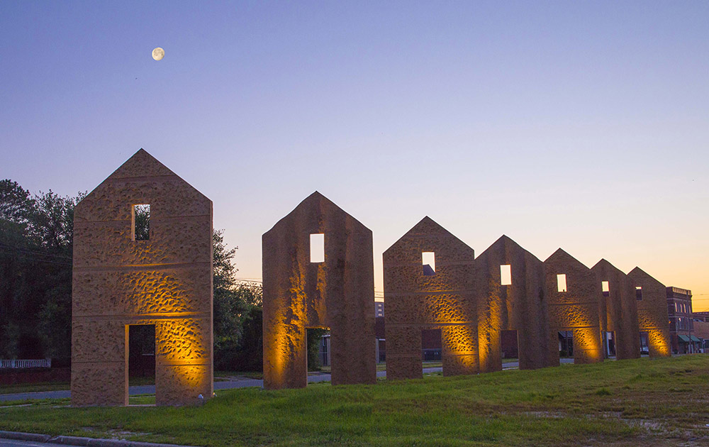 Thomas Sayre's earthcasting project in Kinston