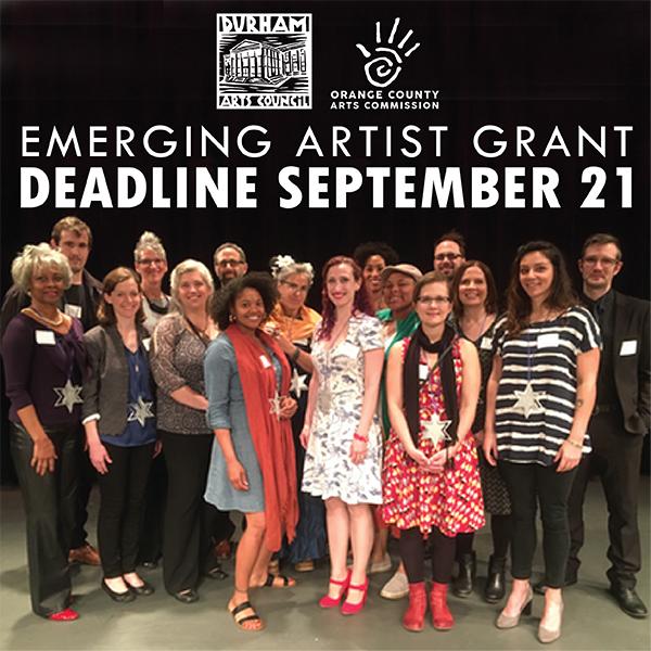 Emerging Artist Grant Deadline September 21
