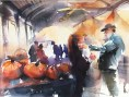 """Honorable Mention and People's Choice Winner, """"Eno Farmer's Market"""" by Lyudmila Tomova of Cary, NC"""