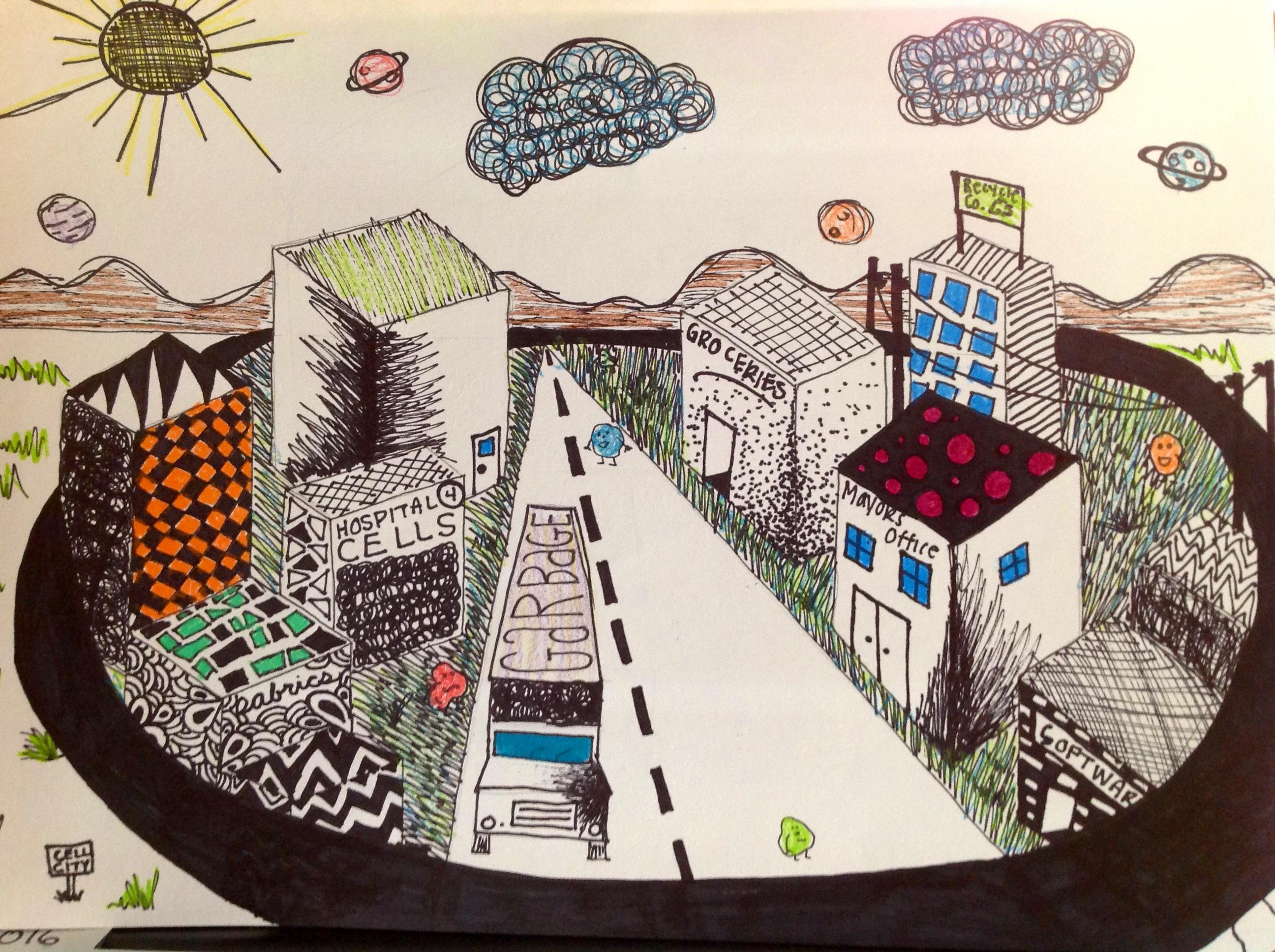 Annikah S Cell City Art Spilling