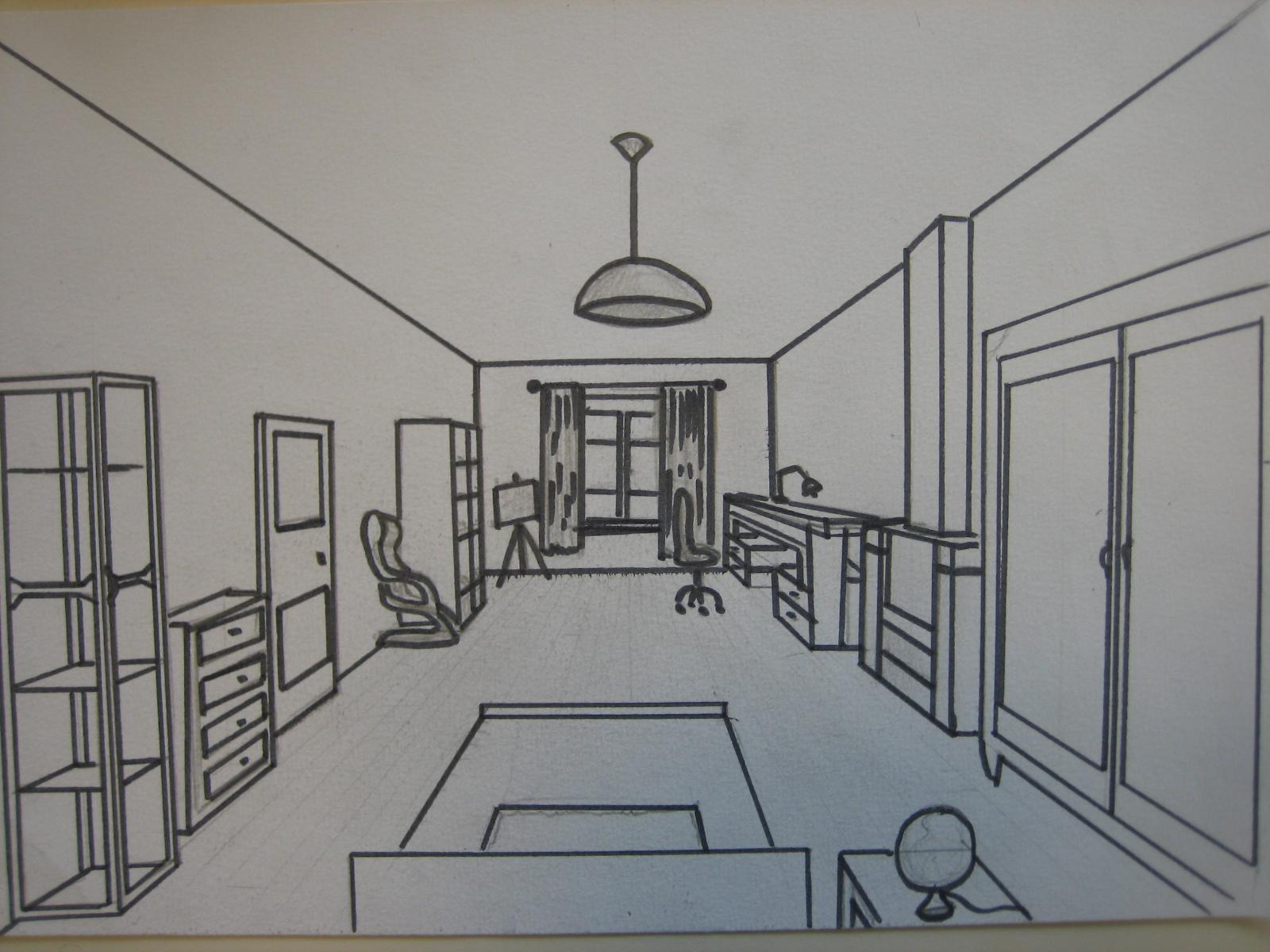 Chambre En Perspective Idées De Design D Intérieur Et De Meubles · Chambre  En Perspective Avec Point De Fuite