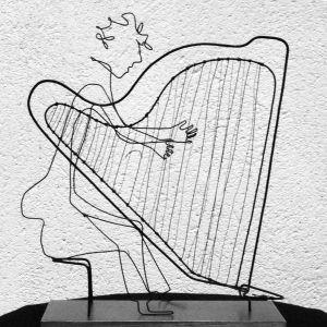 Range of Arts - Sculpture - Laure Simoneau - Wire and Shadow Sculptures - Harpo