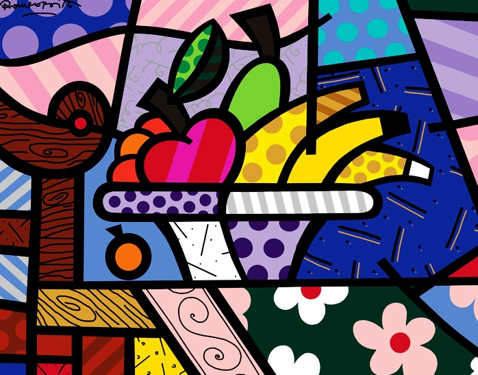 Range of Arts - Romero Britto - Fine Art Prints - Heart Lunch